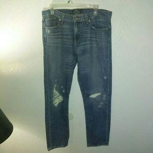 Lucky Brand 12\31 Sienna Boyfriend Jeans Flowers